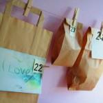 Advent calendar, kraft paper, paper bags, DIY / Adventkalender, kraft papier, zelf maken // VAN BRITT