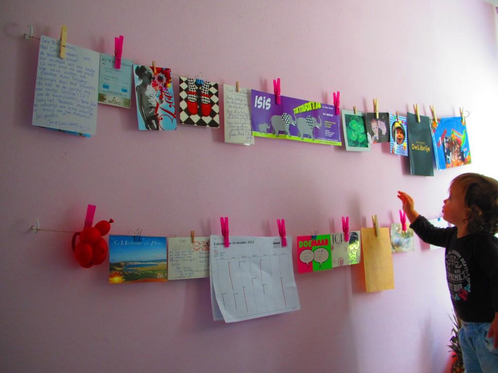 Waslijn aan de muur