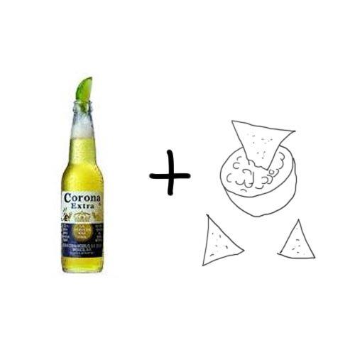 Eigen bierproeverij - Corona met nacho's