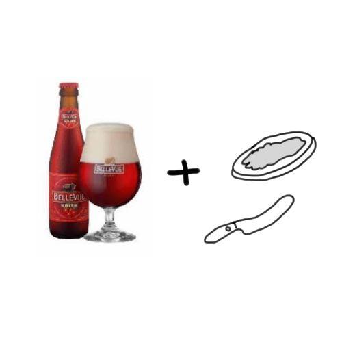 Eigen bierproeverij - Kriek met toastjes paté