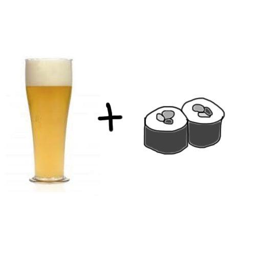 Eigen bierproeverij - witbier met sushi