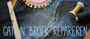 gat in broek repareren