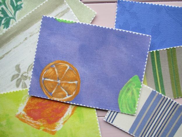 Postkaarten van stof
