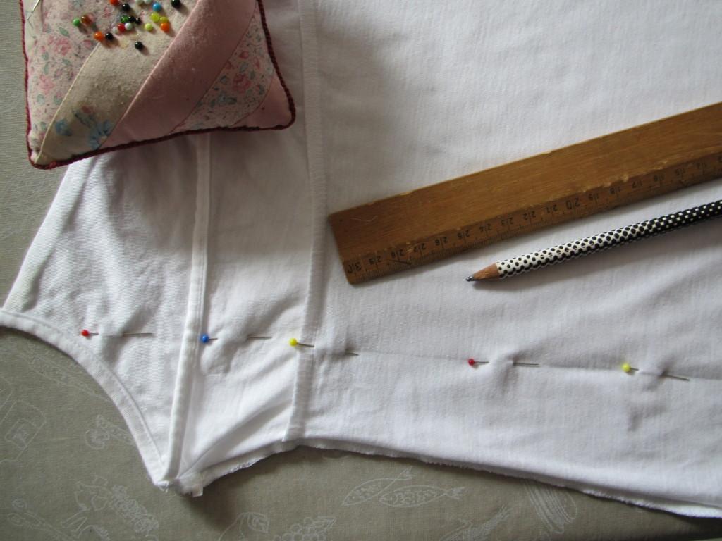 hemd wordt kinderjurkje