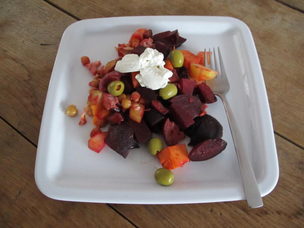Gegrilde groente met chorizo