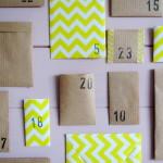 Advent calendar, kraft, DIY / Adventkalender, kraftpapier, zelf maken // VAN BRITT