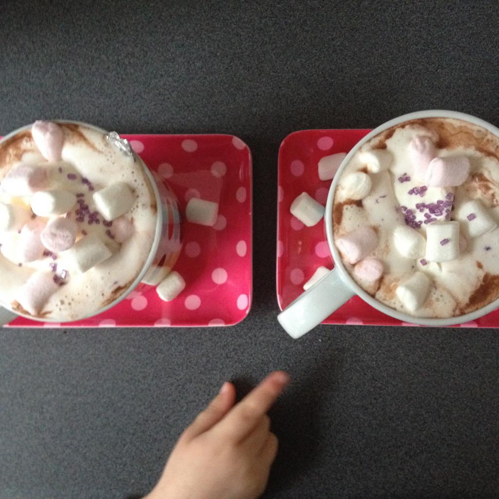 Hot chocolate with marshmallows / Warme chocolademelk met marshmallows // VAN BRITT