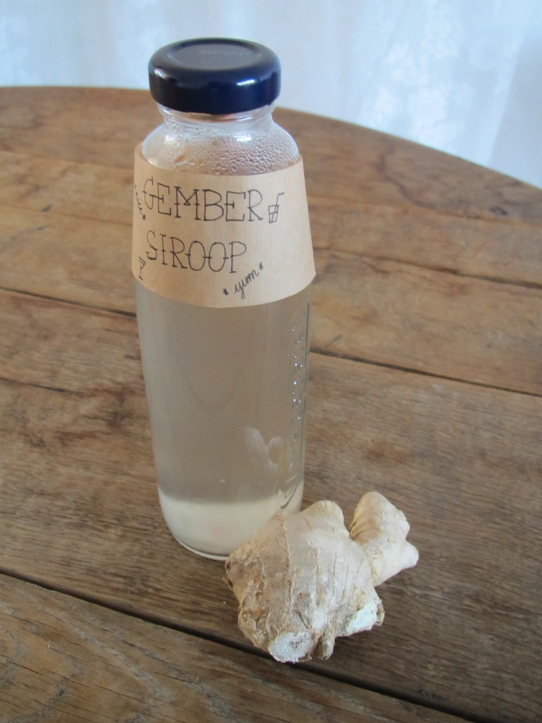 Ginger syrup / Gember siroop // VAN BRITT