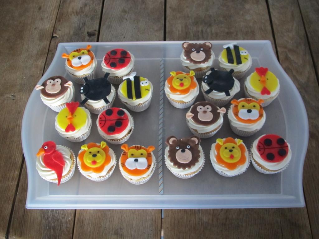 Animal cupcakes / Dieren cupcakes // VAN BRITT