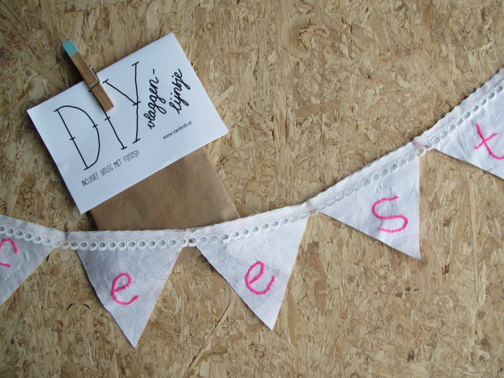 DIY bunting / DIY vlaggenlijn feest // VAN BRITT