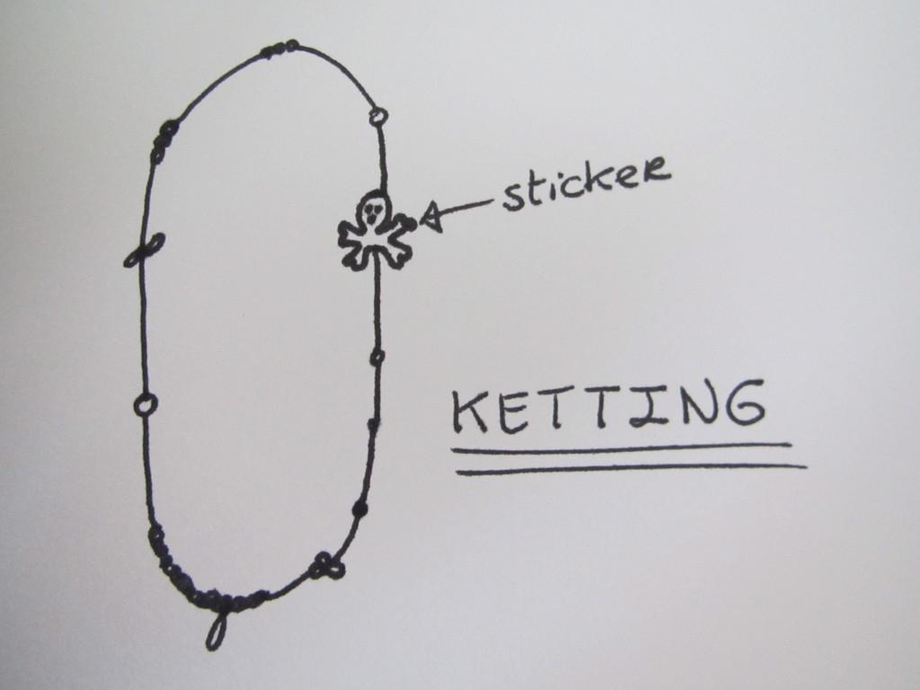 Sketch of a necklace / Schets van een ketting // VAN BRITT