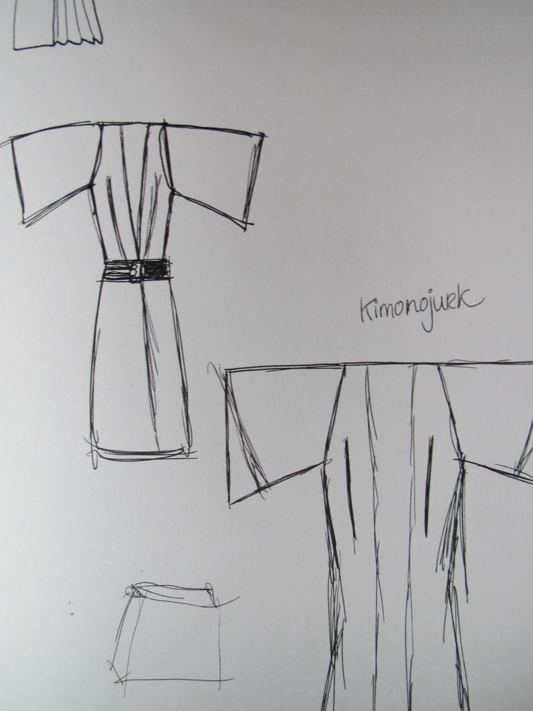 Sketch of a kimono / Schets van een kimono // VAN BRITT