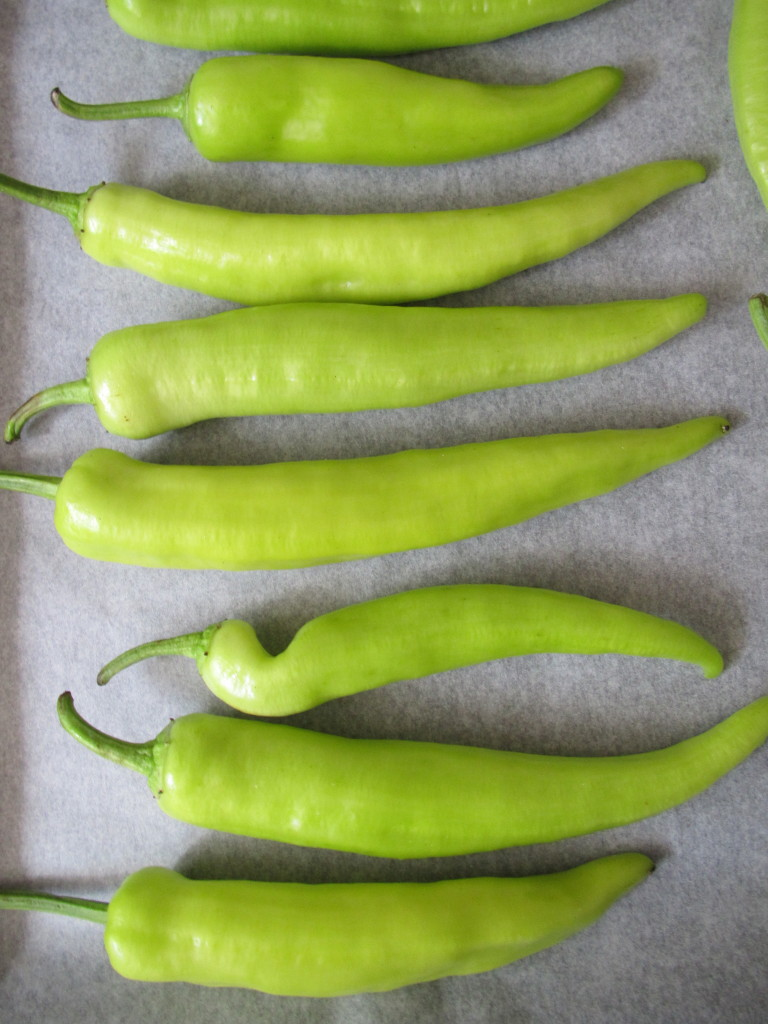Roasted green peppers / Geroosterde groene pepers // VAN BRITT
