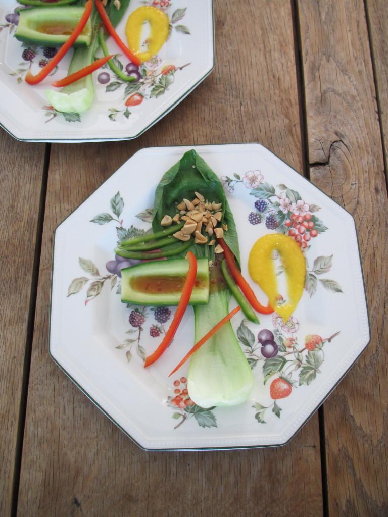 Deconstructed Asianstyle salad / Gedeconstrueerde Aziatisch geinspireerde salade // VAN BRITT