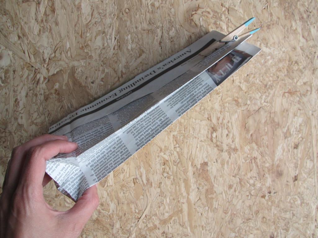 Paper bags DIY / DIY papieren zakken van krant // VAN BRITT