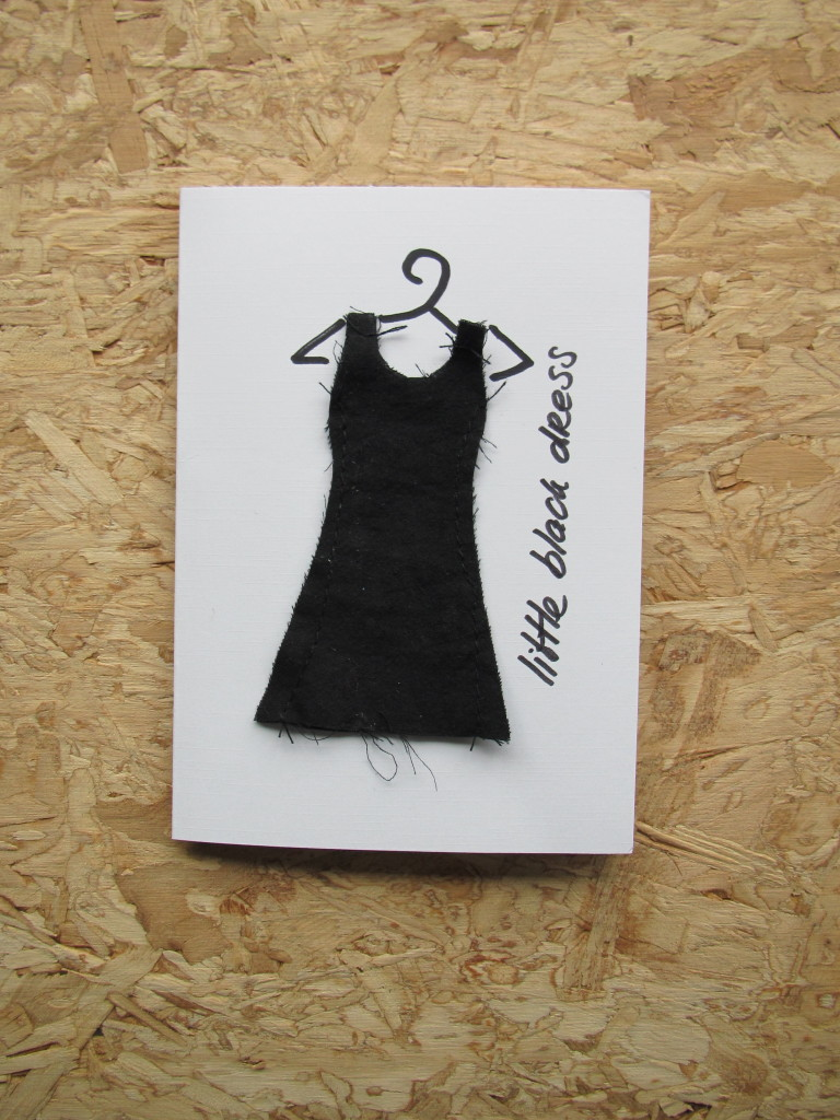 Little Black Dress on a card / Little Black Dress op een kaartje // VAN BRITT