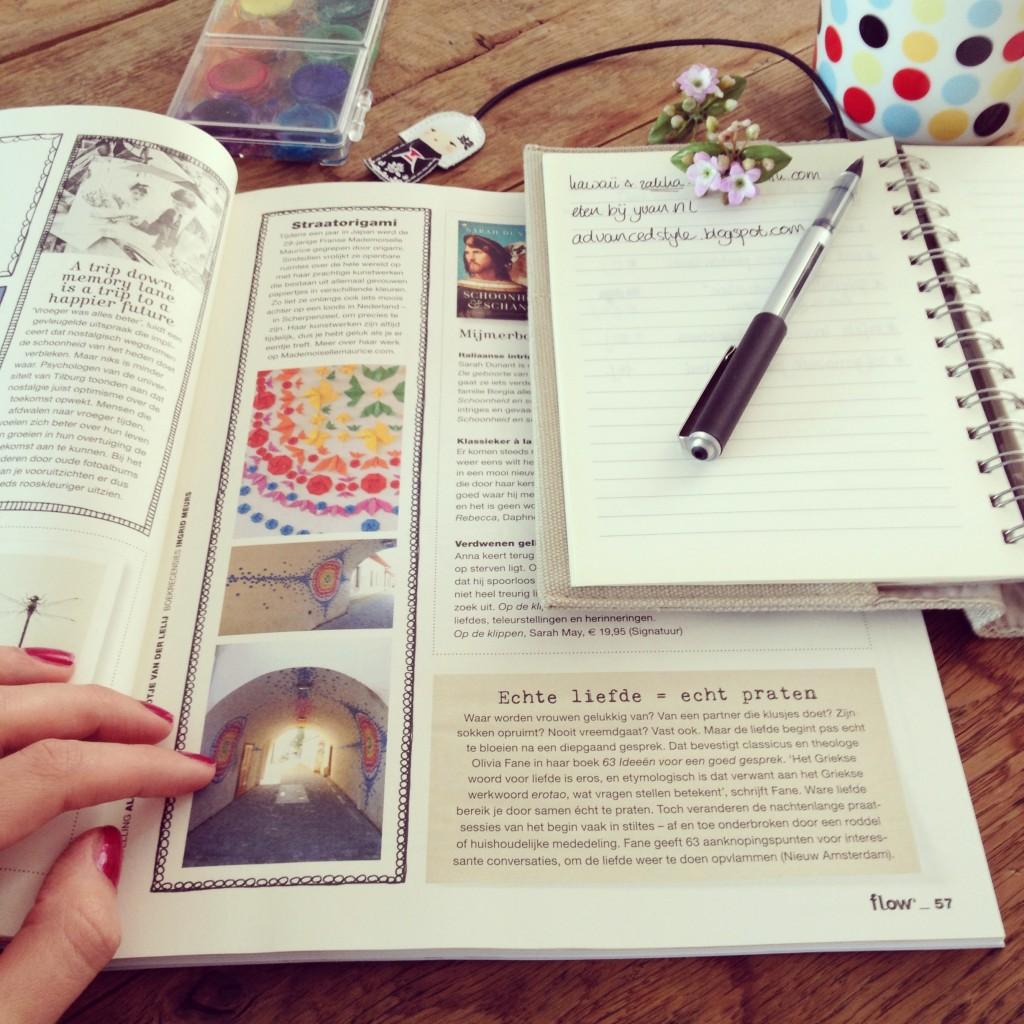 Reading Flow Magazine / Flow Magazine lezen // VAN BRITT