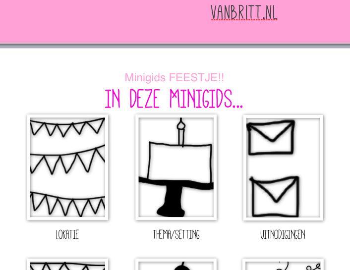 Little drawings for a mini partyguide / Tekeningetjes voor mijn minigids 'Feest!' // VAN BRITT