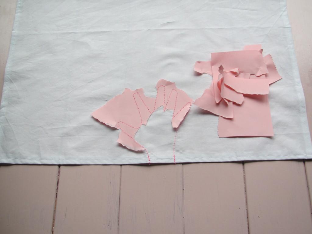 Sewing a handprint / Een gestikte handafdruk // VAN BRITT