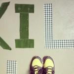 Fabric initials / Stoffen letters // VAN BRITT