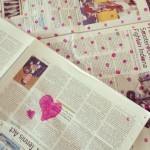 Newspaper and paint / Krant en verf // VAN BRITT