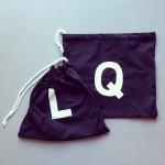 Fabric bags with initials on it / Stoffen zakjes met de eerste letter van je naam erop // VAN BRITT