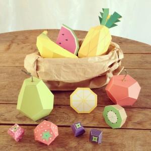 Paper fruit / Fruit van papier // Mr Printables, photo: VAN BRITT