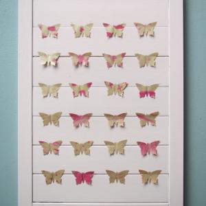 Butterfly craft, for spring / Vlinder knutsel, lente // VAN BRITT