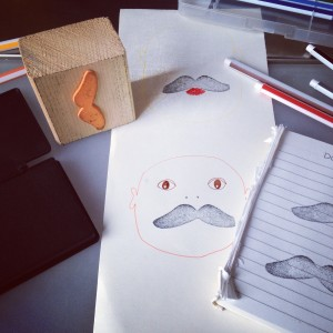 Moustage stamp / Snor stempel // VAN BRITT