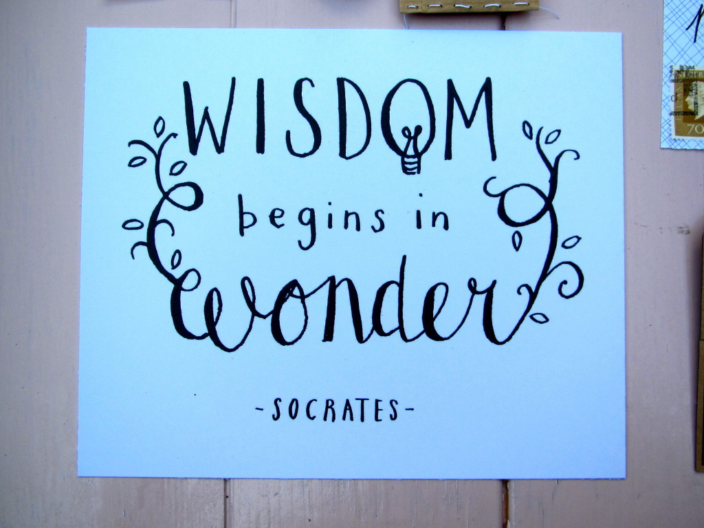Mail on Monday # 23, postcrossing, snailmail, 'Wisdom begins in wonder', quote // VAN BRITT