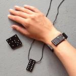 Jewelry made with domino / Sieraden van dominosteentjes // VAN BRITT