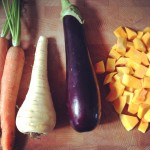Carrot, parsnip, eggplant, pumpkin / Wortel, pastinaak, aubergine, pompoen // VAN BRITT