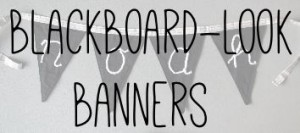 Blackboard-look banners