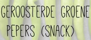Geroosterde groene pepers (snack)