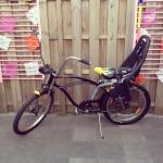 Lowrider bike with chair / Lowrider fiets met kinderzitje // VAN BRITT