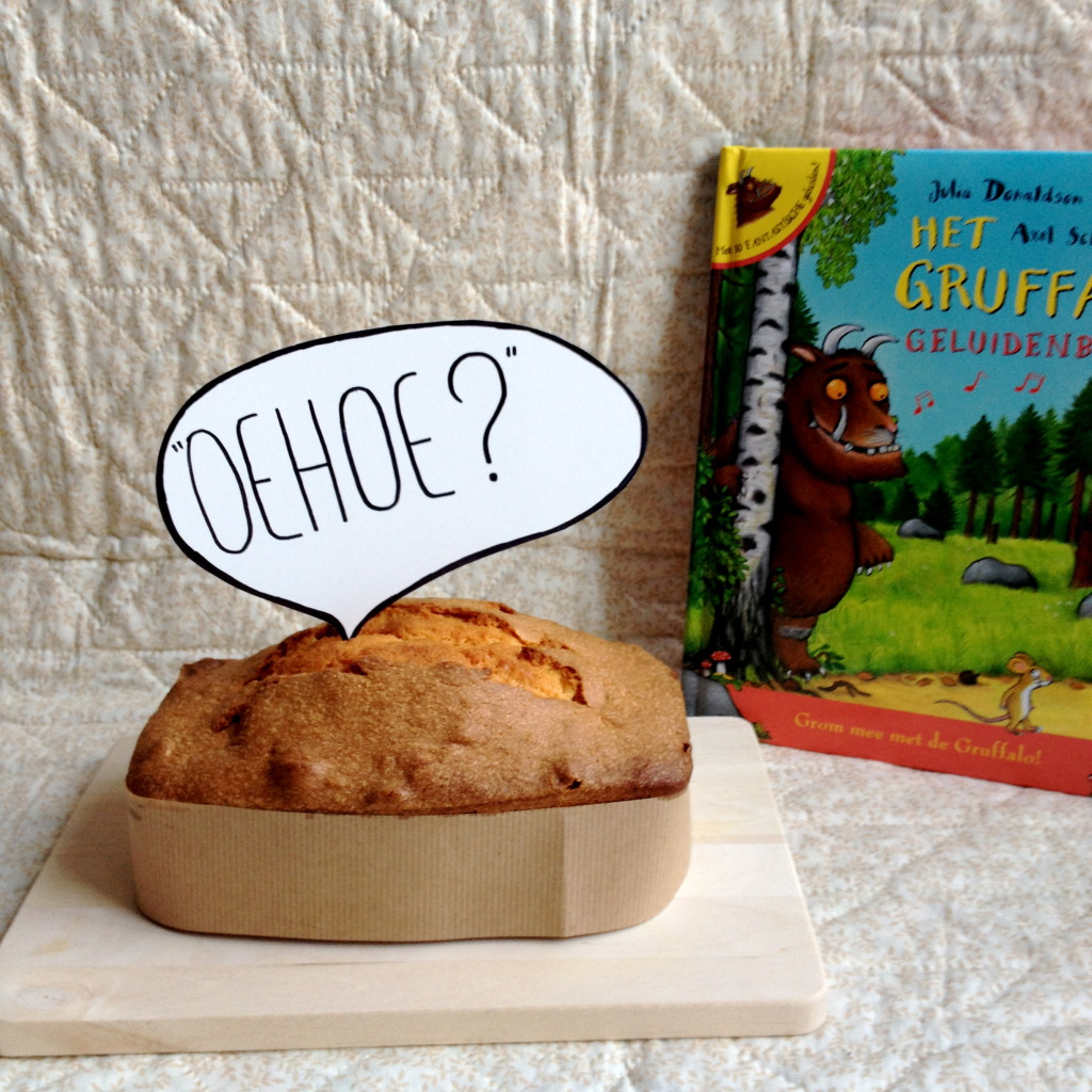 """Oehoe?"" owl cake, The Gruffalo / uilencake, De Gruffalo // VAN BRITT"