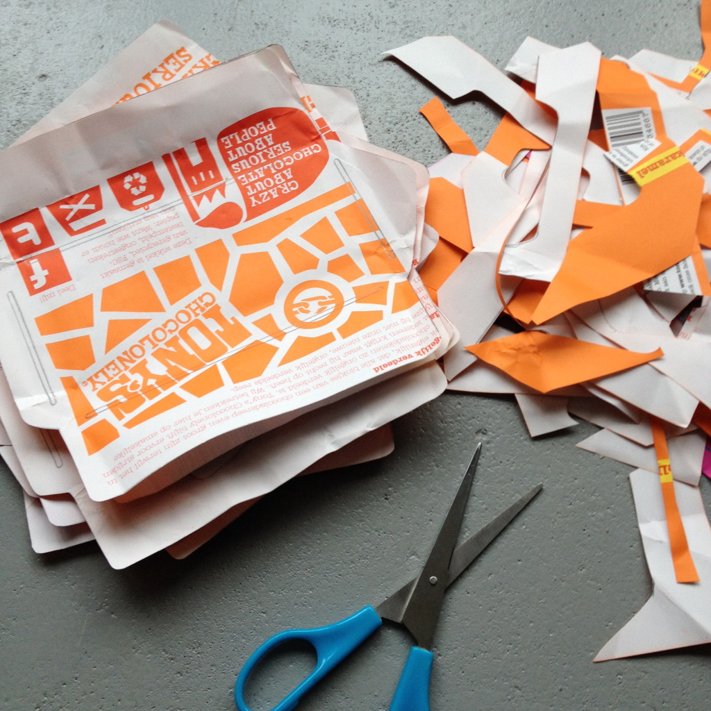 Recycle, paper, envelope template / Tony's Chocolonely's enveloppen, gemaakt met de enveloppe mal van Flow Magazine // VAN BRITT