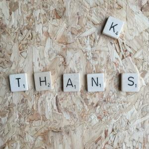 Thans, Scrabble letters // VAN BRITT