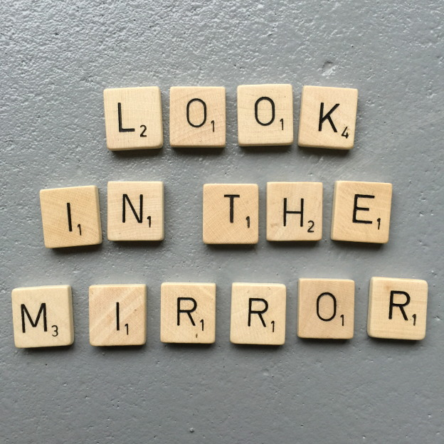 Look in the mirror, Scrabble letters // VAN BRITT