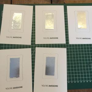 Mirror postcards / Kaarten met spiegeltje // VAN BRITT