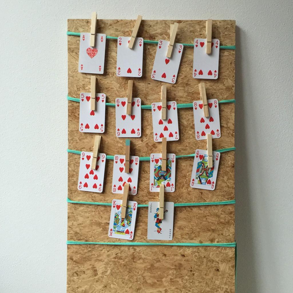 Valentine's day, advent calendar, playing cards / Valentijn snelle diy, Valentijnsdag, adventskalender, speelkaarten, Valentijn // VAN BRITT