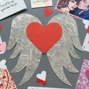 Winged heart, Valentine, Valentine's day / Gevleugeld hart, Valentijn, Valentijnsdag // VAN BRITT