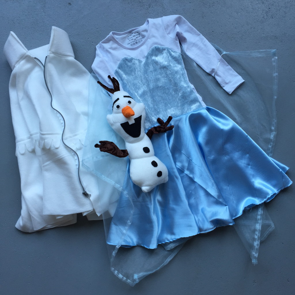 Olaf doll, Elsa dress, Frozen, diy / zelfgemaakte Elsa-jurk, Frozen, zelfmaker // VAN BRITT