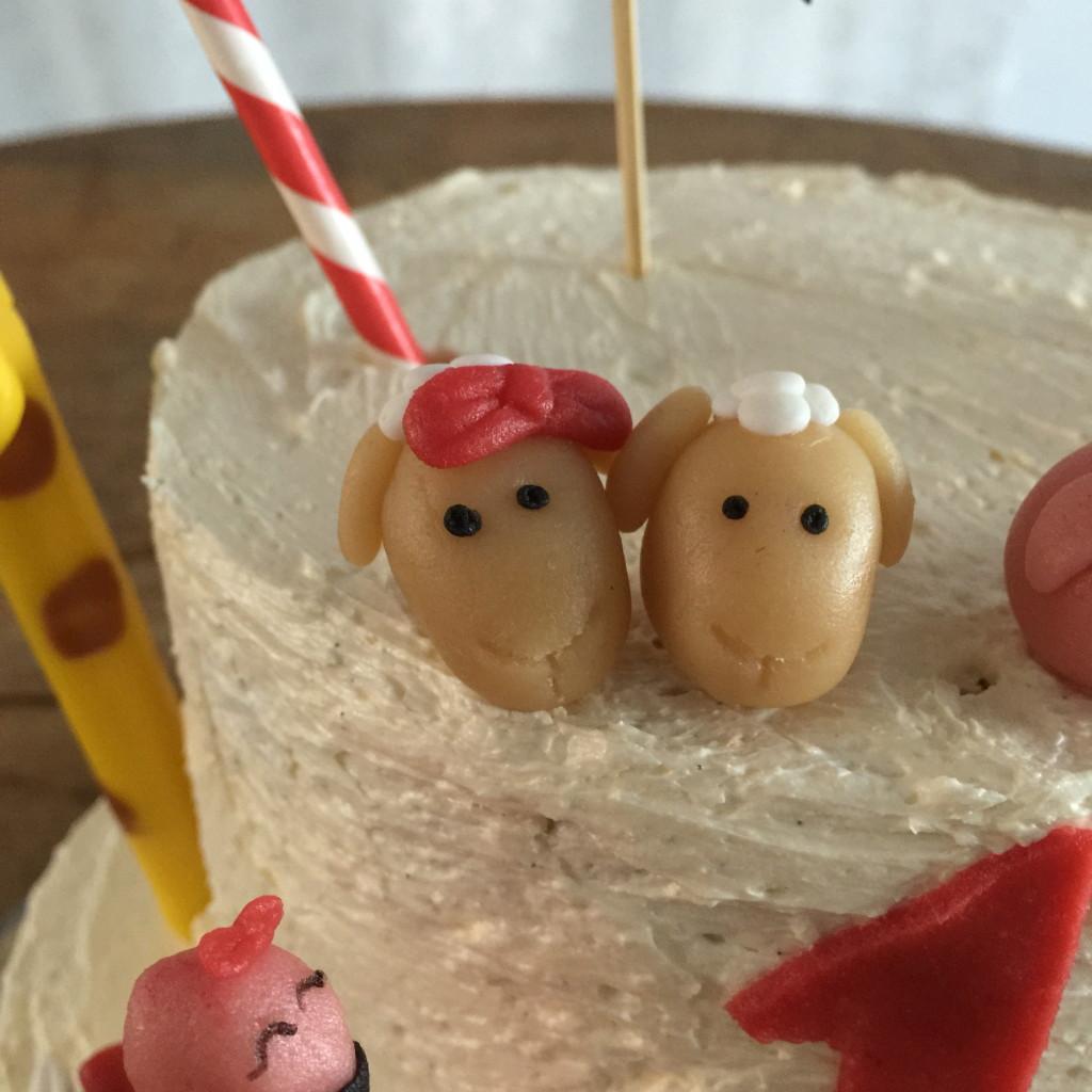 Sheep, Noah's Arc, cake / Schaap, Ark van Noach, taart, taart decoratie // VAN BRITT