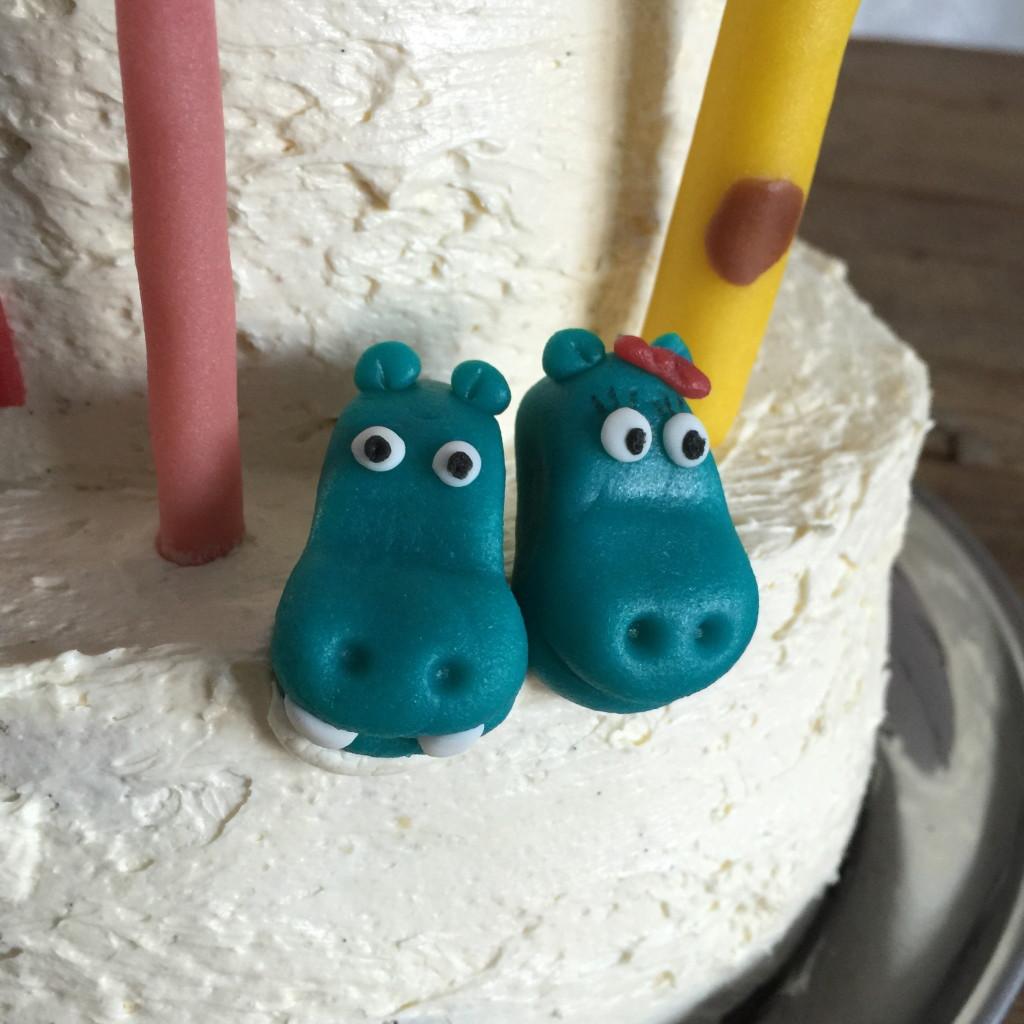 Hippo, Noah's Arc, cake / Nijlpaard, Ark van Noach, taart, taart decoratie // VAN BRITT