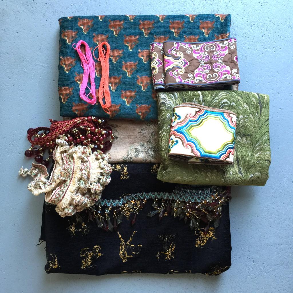 Gorgeous t'ouro fabric / Prachtige t'ouro stoffen // Photo: VAN BRITT