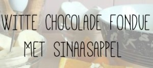 WITTE CHOCOLADE FONDUE MET SINAASAPPEL