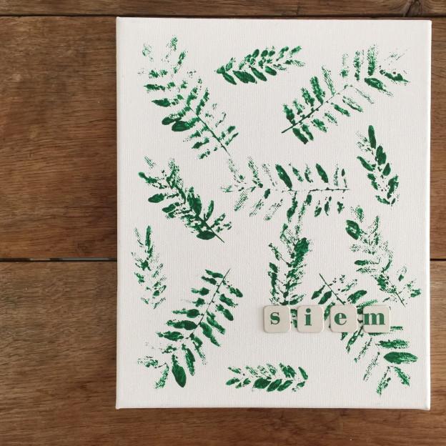 Stamping with leaves / Stempelen met blaadjes // VAN BRITT