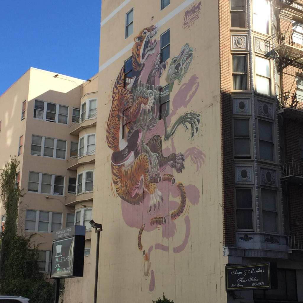 Street art, rock that wall, San Francisco, California // photo: VAN BRITT