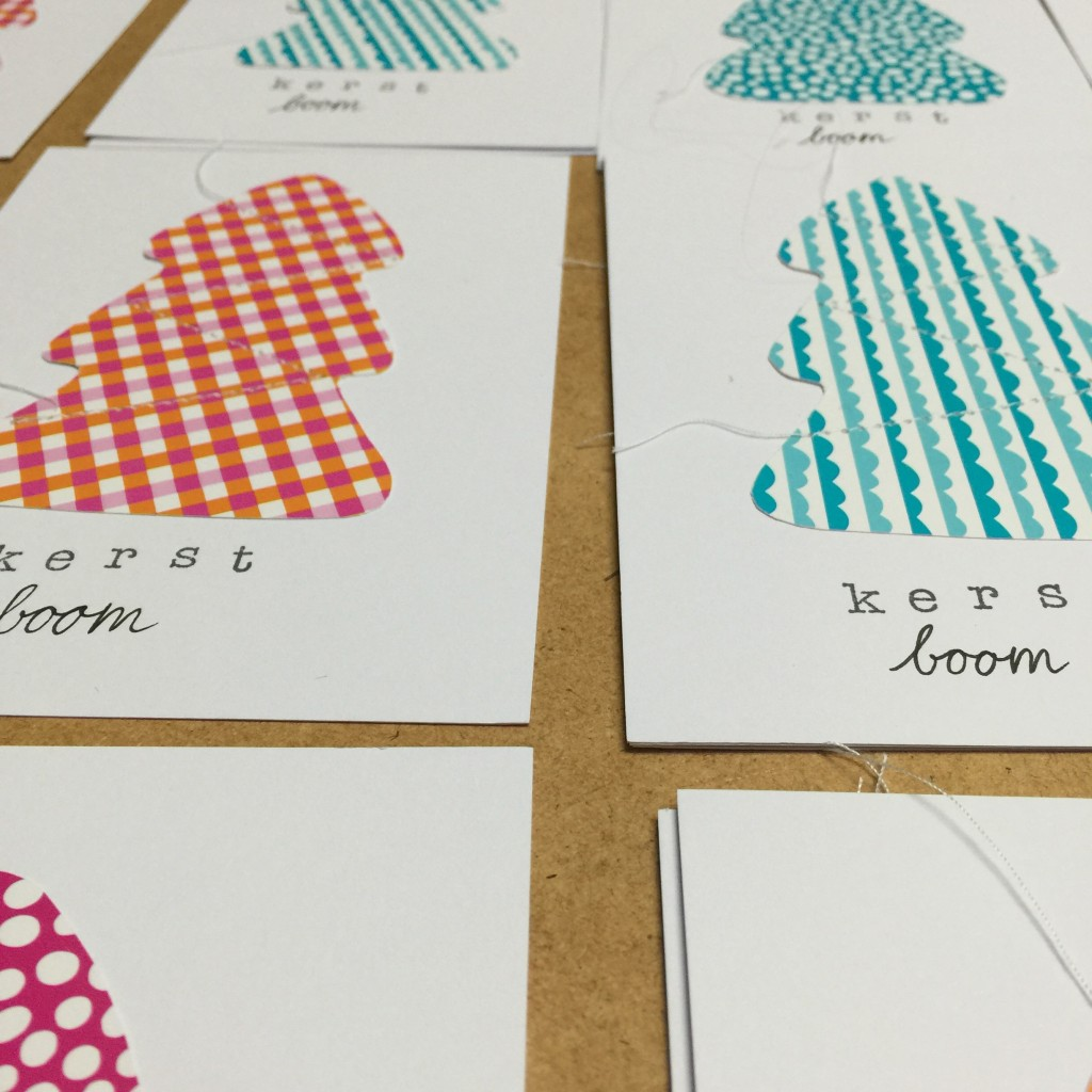 Christmas cards, diy / Kerstkaarten maken, schrijfoefening kleuter // VAN BRITT